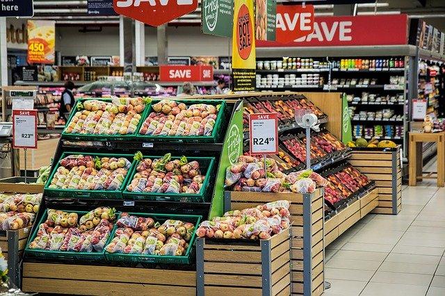 část supermarketu